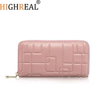 New Fashion Women Wallets Female Cards Holders Embossing Genuine Leather Wallet Coin Purses Girl Long Wallet Lady Wallets J49