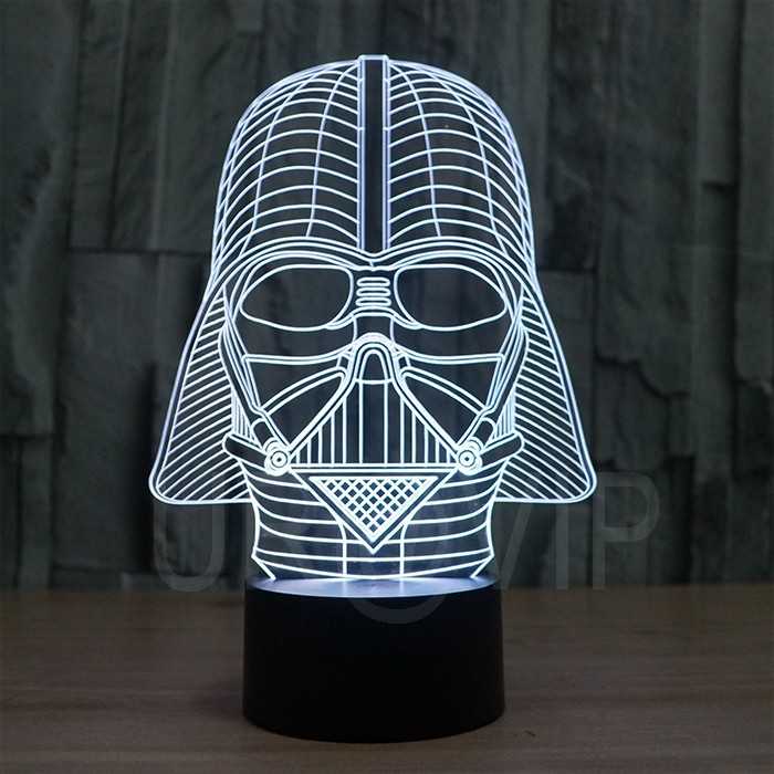 JC-2833  Amazing 3D Illusion led Table  Lamp Night Light with darth vader shape   (5)