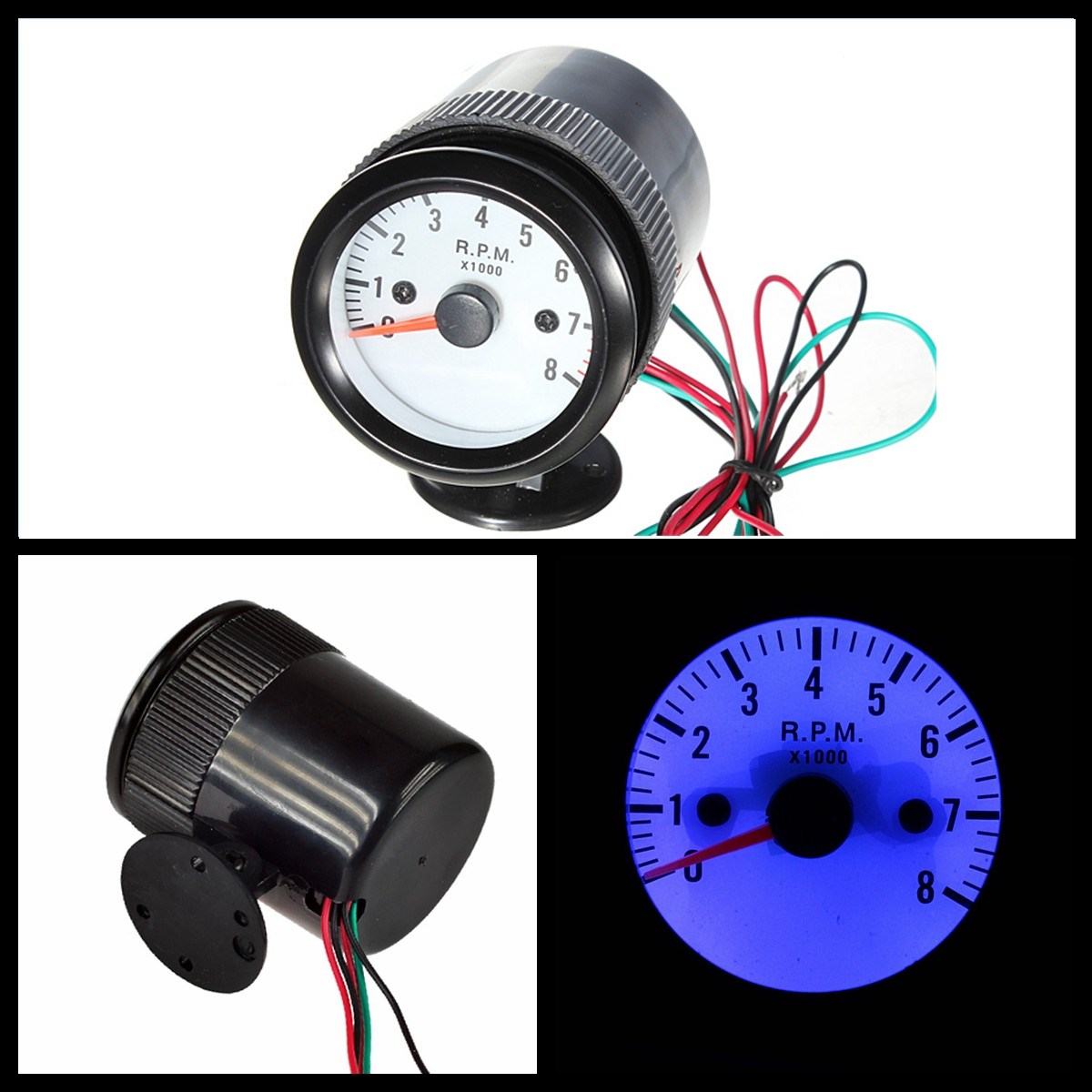 52mm Car Auto Motor Tacho Gauge Meter Tachometer Pointer