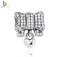 Authentic 925 Sterling Silver Knot Heart Charm Fit Original Pan Bracelet Amp Necklace DIY Accessories PAS244