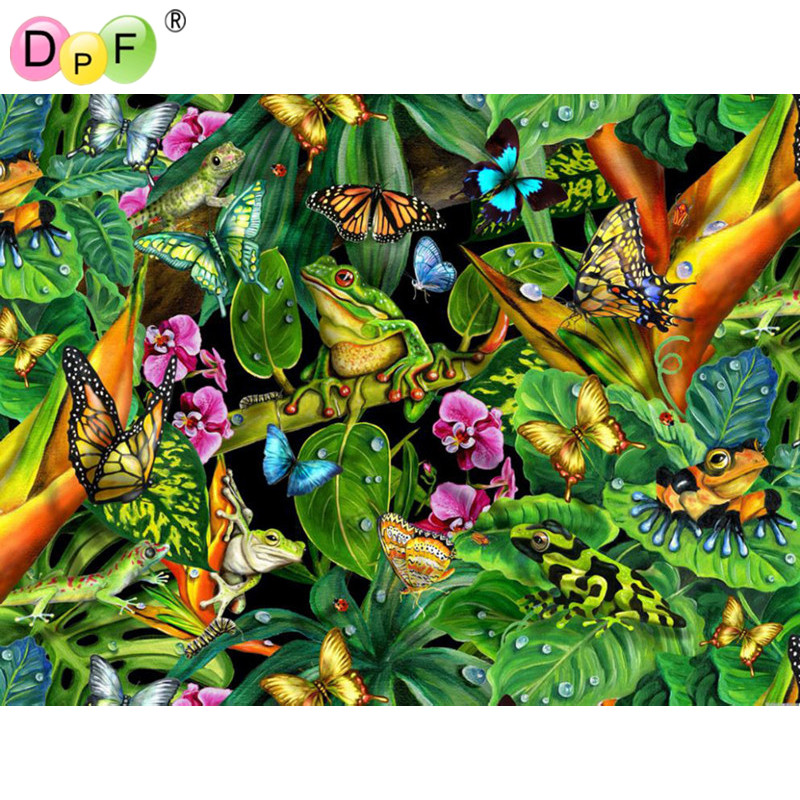 New 3d Forest butterfly DIY diamond painting Needlework square Full dill embroidery rhinestone crafts home decoration painting