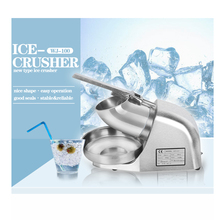 GZZT Ice Crushers  Shavers Snow Cone block Machine Commercial Stainless Steel Ice Smoothies Maker DIY Ice Cream Maker