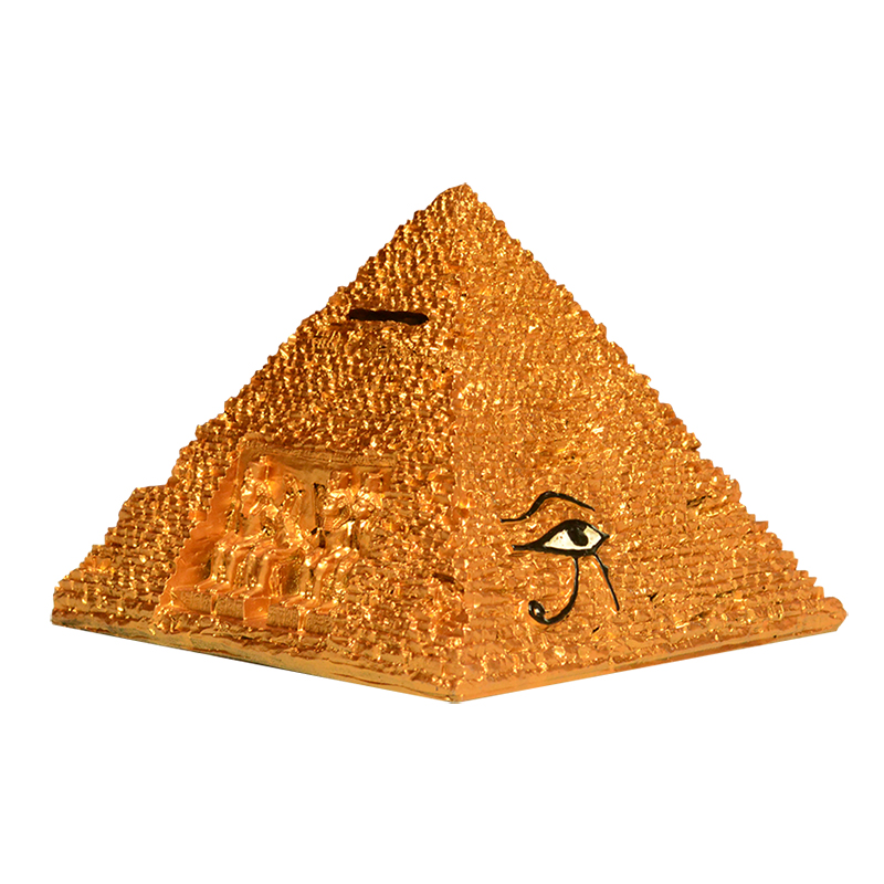 Egyptian home furnishings office decorations piggy bank pyramid crafts gifts