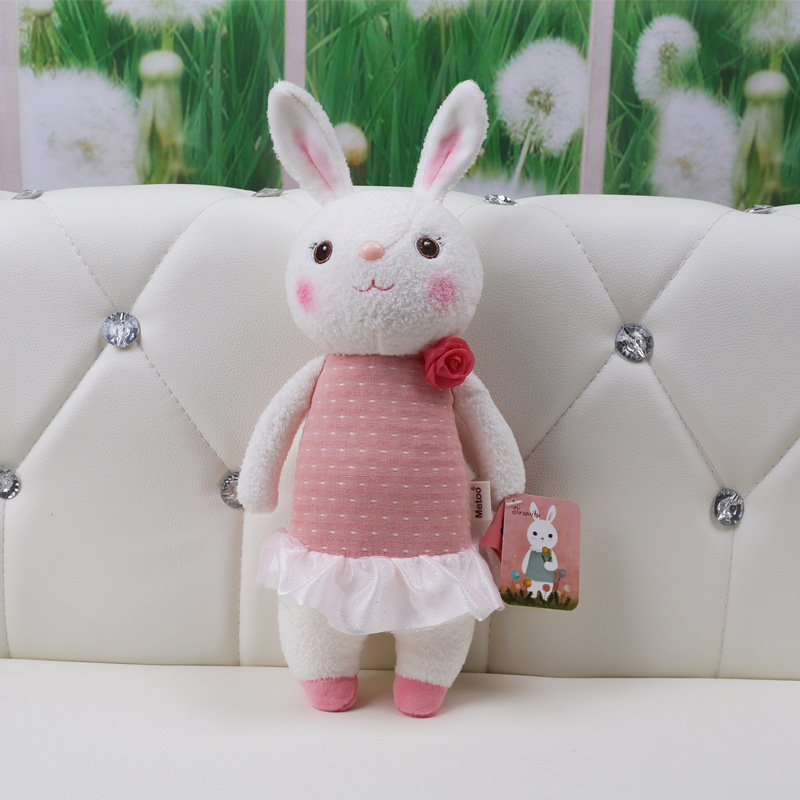 11 Inch Kawaii Plush Sweet Cute Lovely Stuffed Baby Kids Toys for Girls Birthday Christmas Gift Tiramitu Rabbits Mini Metoo Doll