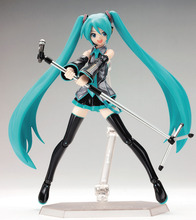 цена Japan Anime Hatsune Miku Figure Figma PVC Action Figure Collectible Brinquedos Kids Toys Commercial ver Wholesale-retail онлайн в 2017 году