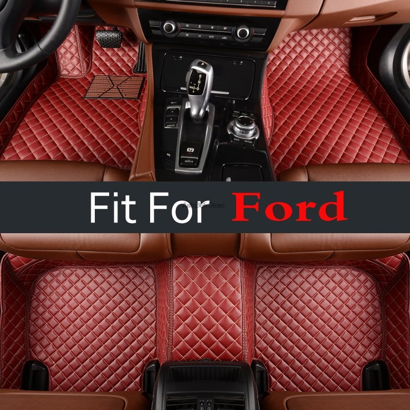 Car Decoration Custom Fit New For Ford S Max Fusion Mondeo Focus Edge Kuga Escape Foot Floor Mat Set 2013 - 2018
