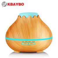 400 ml Grano De Madera HumidifierEssential Ultrasónico del Aroma de Vapor Frío Difusor De Aceites para la Oficina Sala de Estudio Dormitorio Bebé Spa Yoga