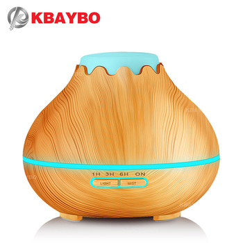 400ml Wood Grain Ultrasonic Aroma Cool Mist HumidifierEssential Oil Diffuser for Office Bedroom Baby Room Study Yoga Spa