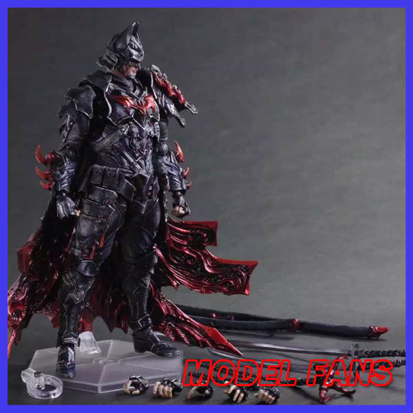 MODEL FANS Batman Figure Timeless Bushido BAT Play Arts Kai Variant Play Art KAI PVC Action Figure Bat Man Bruce Wayne 25cm Doll super street fighter iv akuma gouki white variant play arts kai action figure