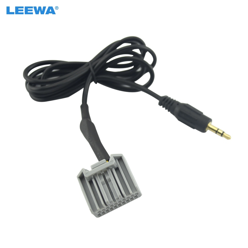 Leewa 10pcs For Honda Crv Civic Crider Aux Harness 3 5mm Connector Male Stereo Audio Cable Wire