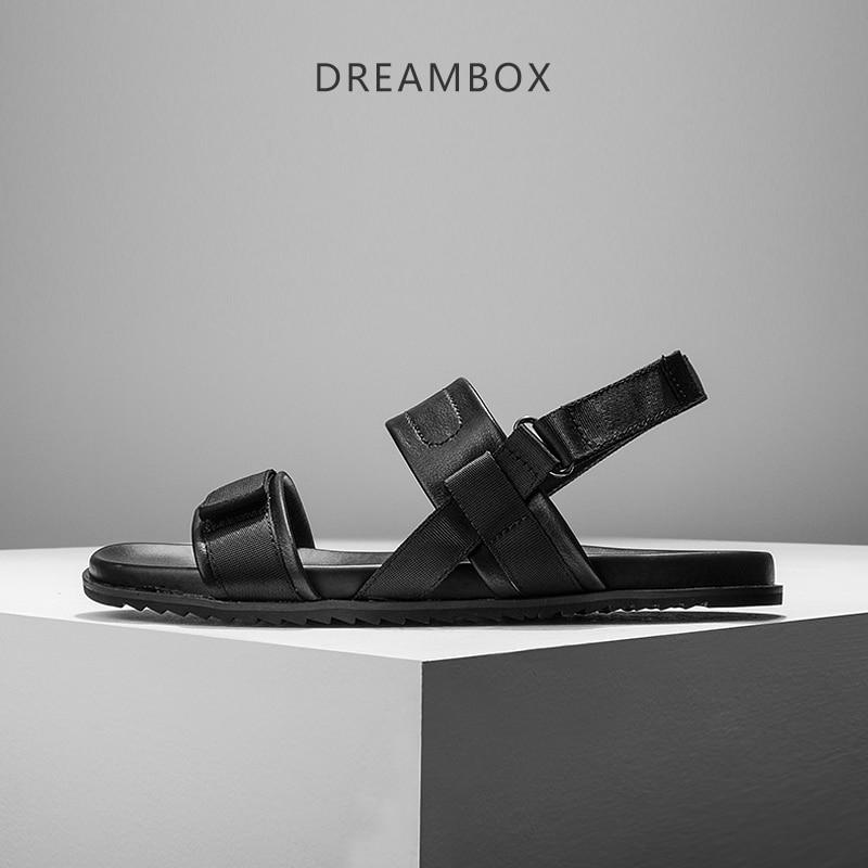 dreambox 2017 Summer British leisure breathable dew toe Roman sandals men's beach shoes dreambox 800 hd крайот