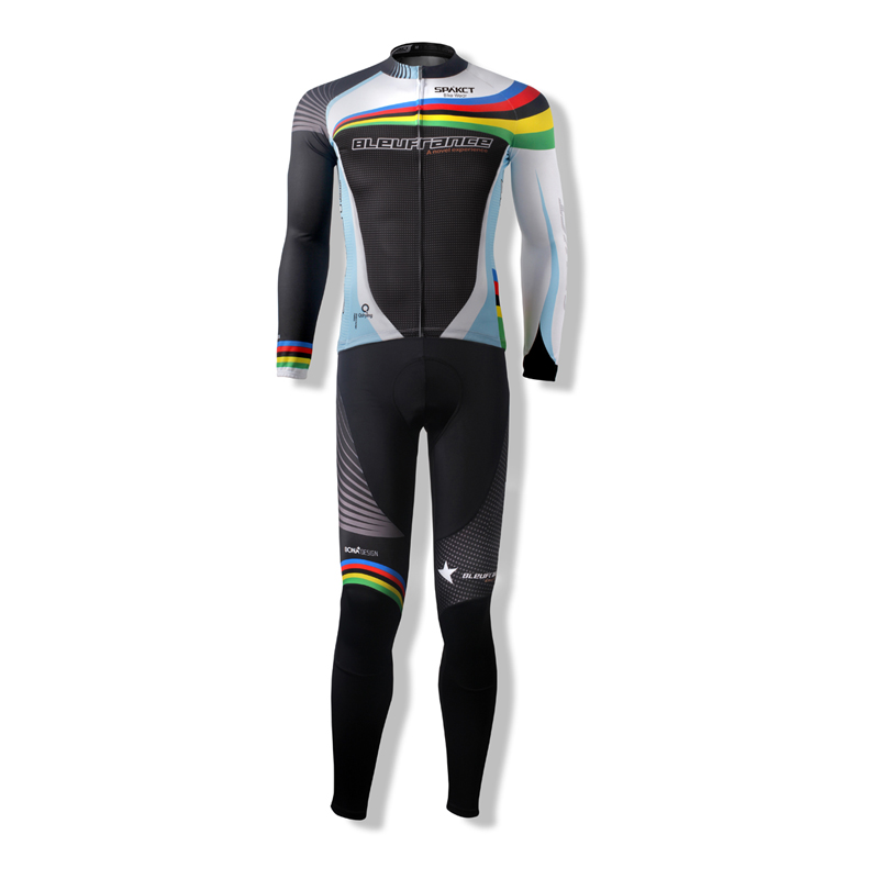 Spakct Men's Sportswear Summer Cycling Suits 2017 Bike Bicycle Long Sleeve Jersey Jacket & bIB 3D Pad Tights Trousers Clothing wosawe cycling coat bike bicycle cycle clothing long jersey jacket wind tights pants whirlwind waterproof cycling jersey 2017