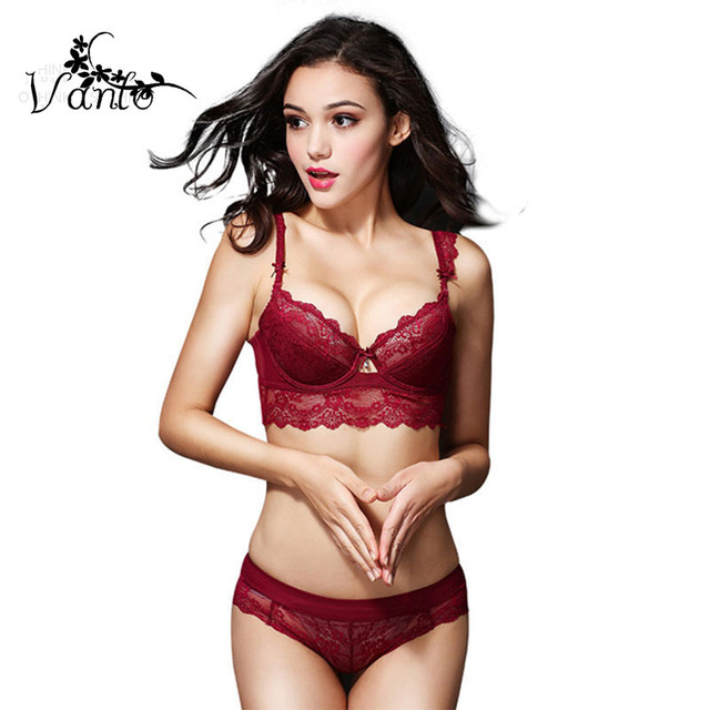781ea1f9dc61 2016 New Vanlo Brand Women Fashion Style Europe and Sexy Lace Thin Cup Push  Up Bra