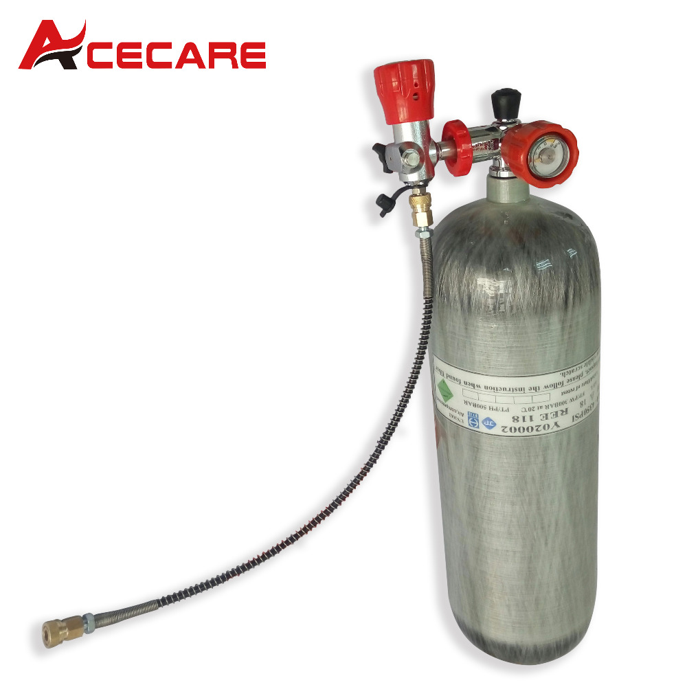 AC268101 Hunting Pcp Tank Air Rifle Dot 6.8L/9L High Pressure Cylinder Target Rifle Shooting Mini Bottle Dive Gas Station