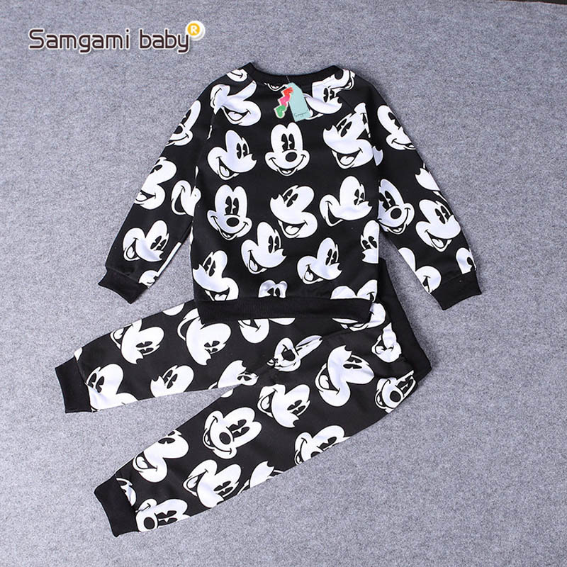 2018 Baby Boys Cartoon Design Round Collar Fleece Children Wear T-Shirts Children's Clothes babies boy kids set Pajamas 2-5 year 1