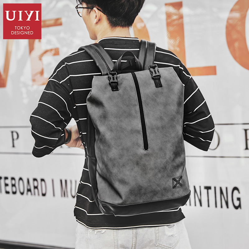 Tide brand backpack male ins super fire backpack college student bag casual backpack male travel bagTide brand backpack male ins super fire backpack college student bag casual backpack male travel bag
