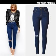 High Waist Jeans Women 2017 Ripped Jeans For Women Hole Skinny Pencil Denim Pants Stretch Trousers Plus Size Women's Jeans Femme