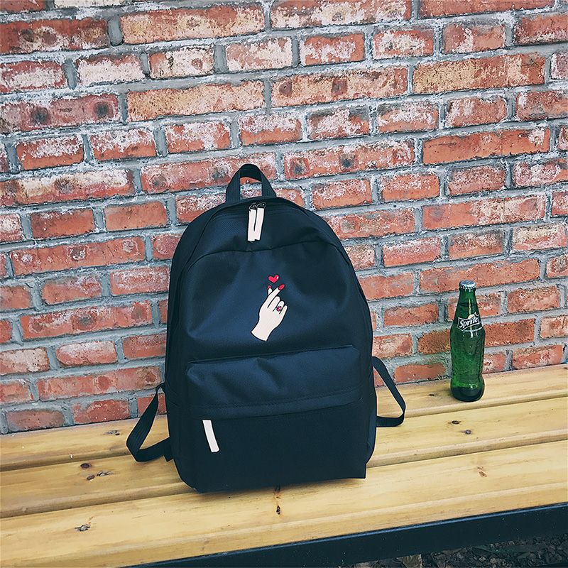 e38fd7cb6b ... Men Canvas Backpack Cute Fashion Women Rose Embroidery Backpacks for  Teenagers Women s Travel Bags Mochilas Rucksack ...