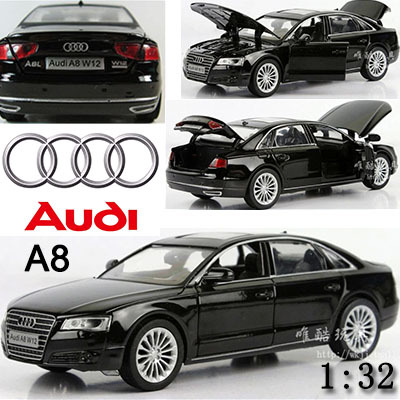 1:32 AUDI A8 Kids Toys Car Classic Alloy Car Model Wholesale Pull Back Sound