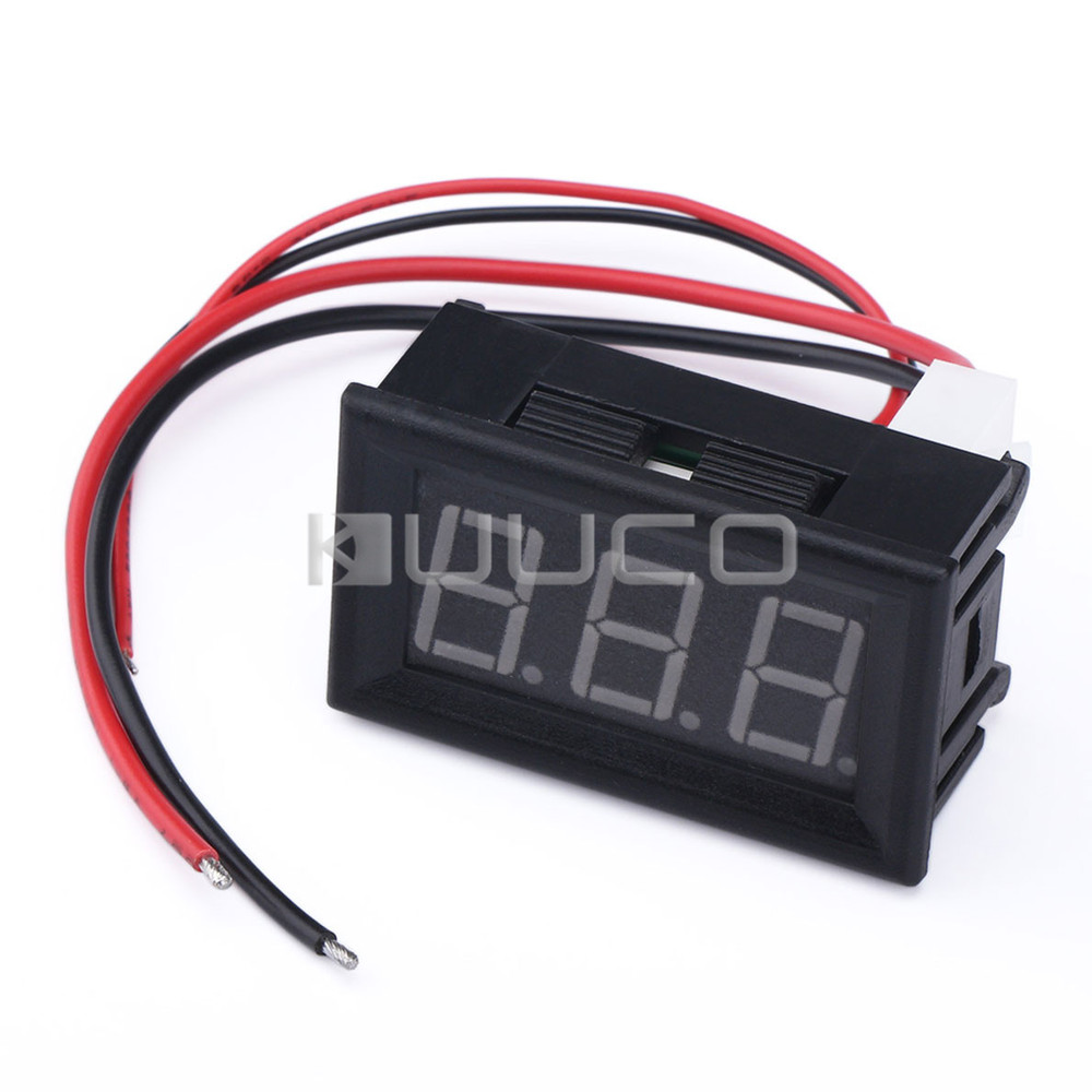 medium resolution of dc 12v 24v current voltage meter dc 4 5 30v 50a dual display voltmeter ammeter 2in1 digital meter resistive shuntusd 12 46 piece