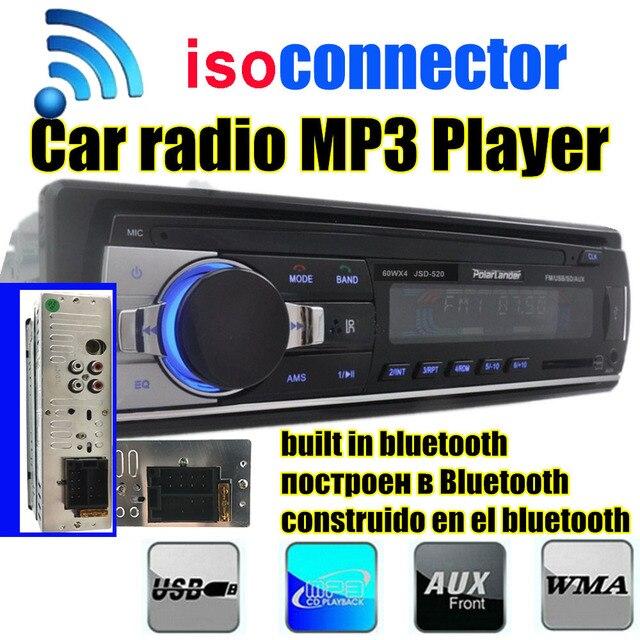 Новинка 2015 автомобиля Радио Bluetooth MP3 FM/USB один дин в тире USB порт 12 В car audio bluetooth handfree автомагнитолы Blueooth AUX IN