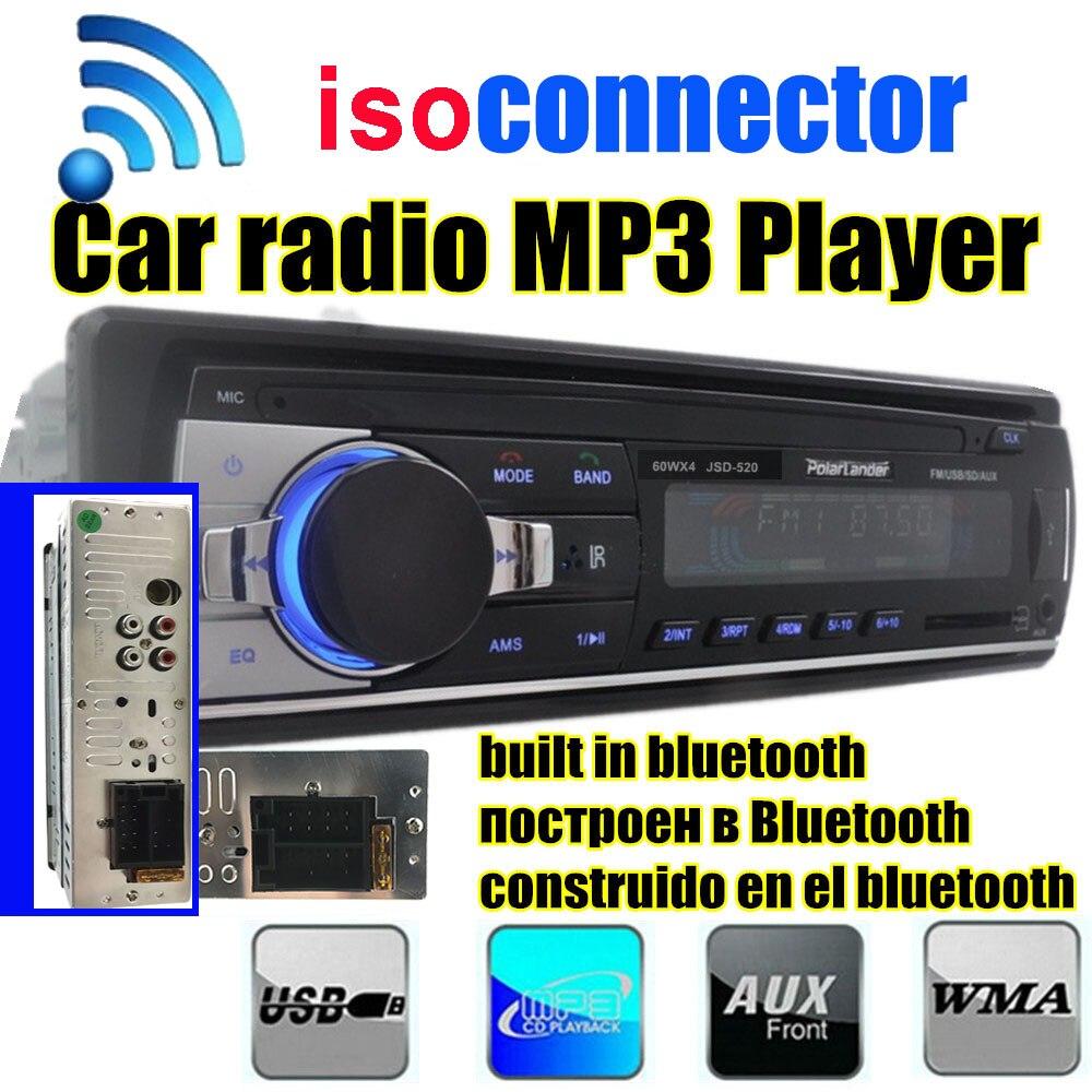 2015 new Car Radio bluetooth MP3 FM/USB uno din in dash porta USB 12 V Car Audio mani libere bluetooth autoradio blueooth aux in