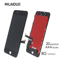 20 PCS Lot Wholesale For IPhone 8 LCD Display Touch Screen Digitizer Frame Assembly Replacement For