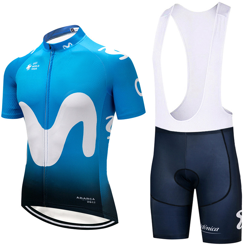 2018 Newest BLUE M Cycling Clothing Bike jersey Quick Dry Mens Bicycle clothes summer team Cycling Jerseys gel bike shorts set lole леггинсы lsw1234 motion leggings m blue corn