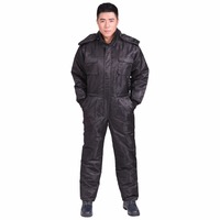 Work Clothing Men Winter Thicken Waterproof Coveralls Cotton Padded Clothes Outdoor Fishing Warmer Hooded Overalls Plus