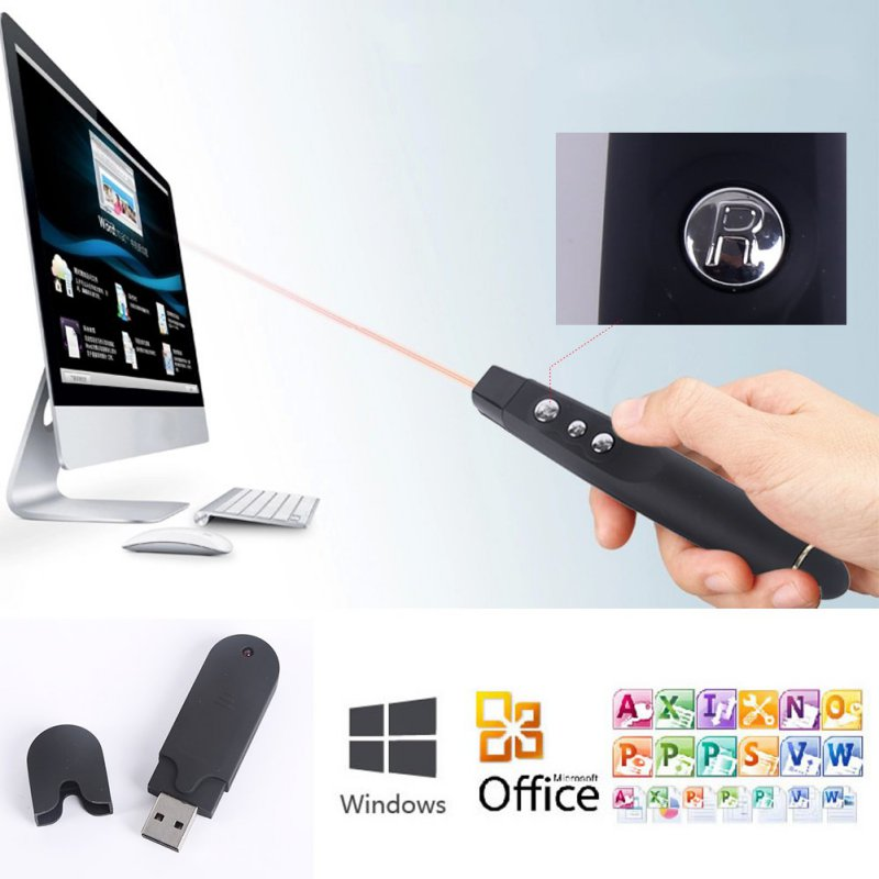 Universal Wireless USB Laser Pointer Pen PowerPoint PPT Presenter Remote Control