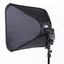 POPLAR Portable Soft Box 60x60cm 24x24Inch Softbox for Speedlight Flash Speedlite