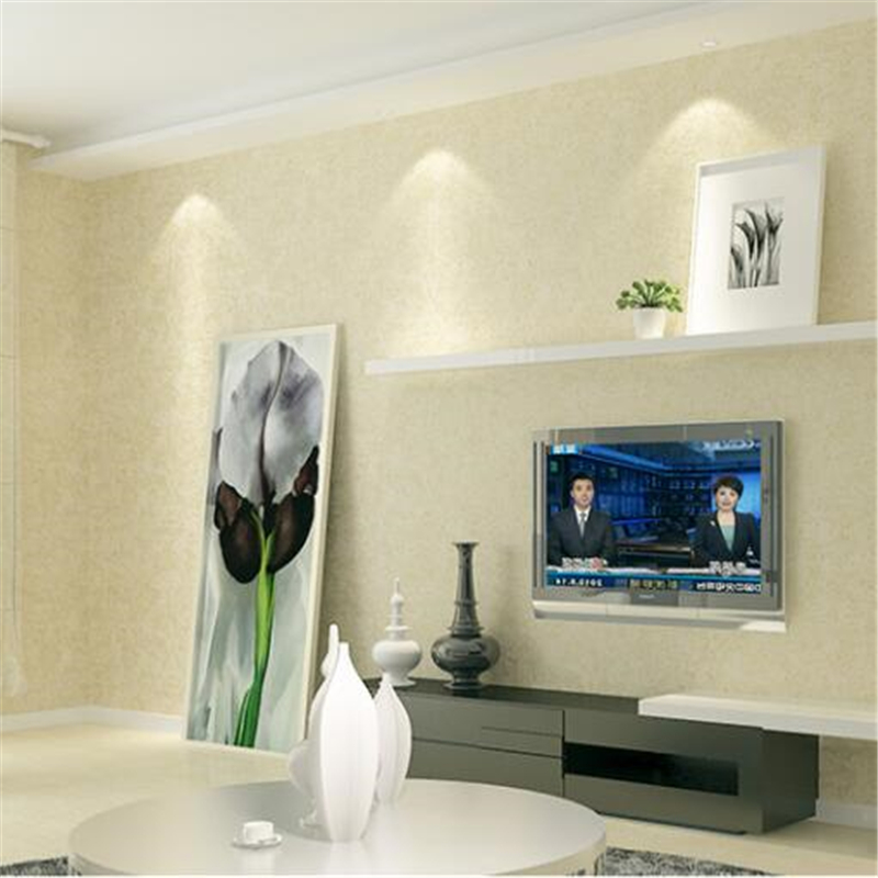 beibehang papel de parede Solid color non-woven wallpaper study plain beige green pink bedroom warm living room wallpaper wild