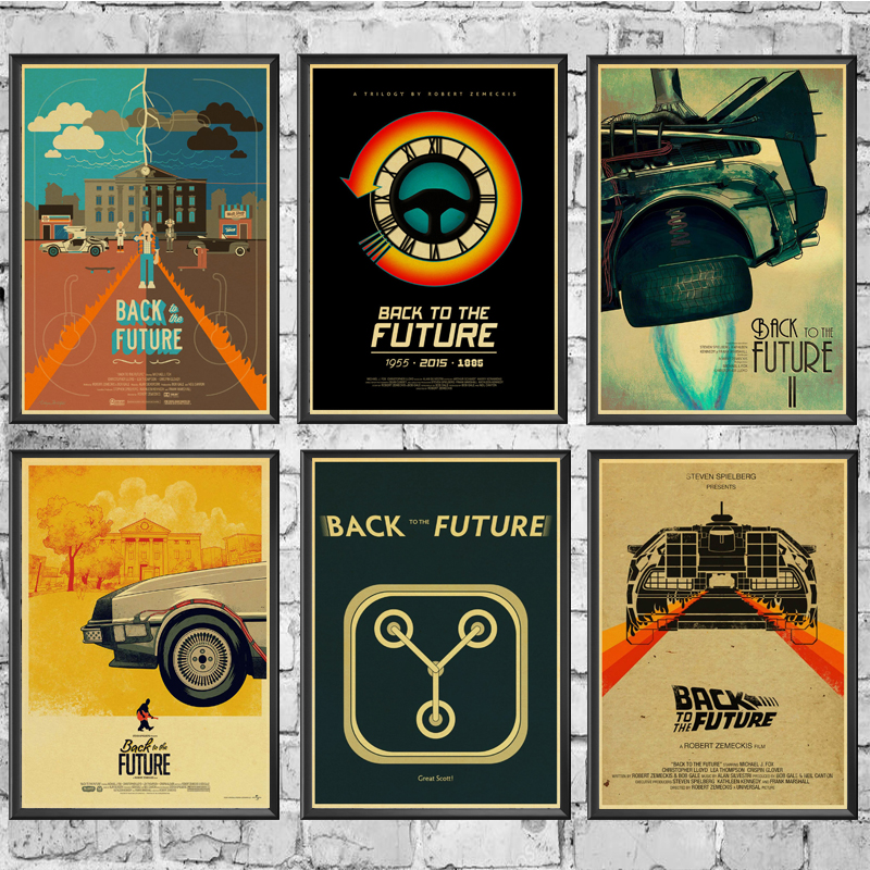 Classic Movie Back To The Future Posters Wall Stickers Retro Poster Prints High Definition For Living Room Home Decoration