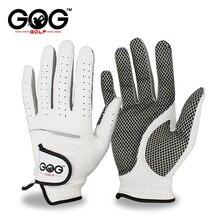 Мужские перчатки для гольфа из мягкой дышащей овечьей кожи для левой и правой руки, перчатки для гольфа из натуральной кожи