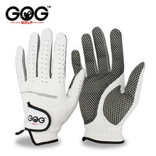 Pack 1 Pcs Golf Gloves Men Left Right Hand Soft Breathable Pure Sheepskin Genuine Leather With Anti-Slip Granules Men Golf Glove