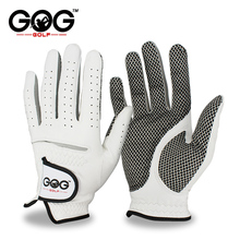 Golf-Glove Right Hand Breathable Pure-Sheepskin Genuine-Leather Pack Left Men with Anti-Slip-Granules