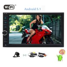 Free Camera Included Remote Controll Double Din Android 5.1 Quad Core Touch Screen Car Stereo Radio In Dash Headunit GPS Screen