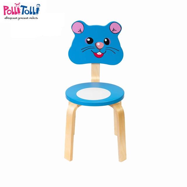 """Стул  детский Polli Tolli """"Мордочки.Мышка"""" ,26см."""