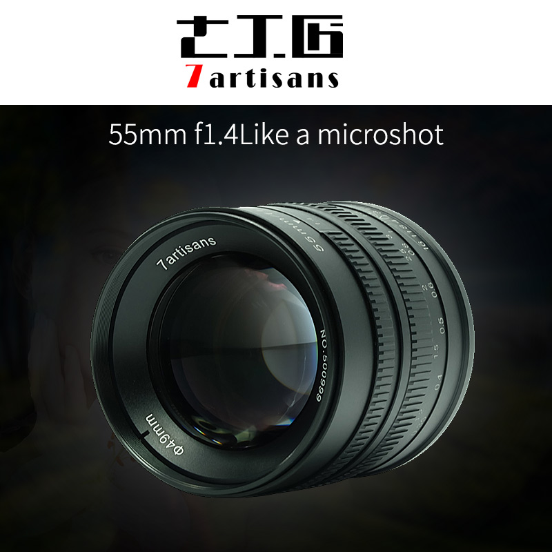 7artisans 55mm F1.4 Large Aperture manual fixed focus micro-single camera lens for canon M-mount sony E-mount or Fuji-XF camera jintu 900mm f 8 mirror super tele manual fix focus lens for sony alpha a900 a700 a300 a200 a100 dslr camera