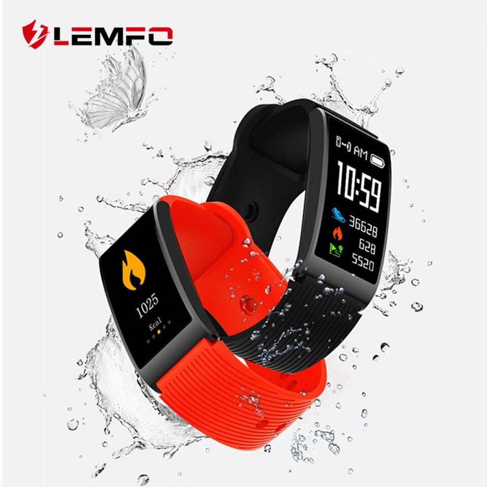 LEMFO Fitness Bracelet IP68 Waterproof Pedometer Heart Rate Blood Pressure Monitor Multi-sport Mode Smart Bracelet for Women Men