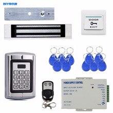 DIYSECUR Controle Remoto Fechadura Magnética Senha Leitor de 125 KHz RFID Metal Teclado Sistema de Segurança Controle de Acesso Kit BC2000