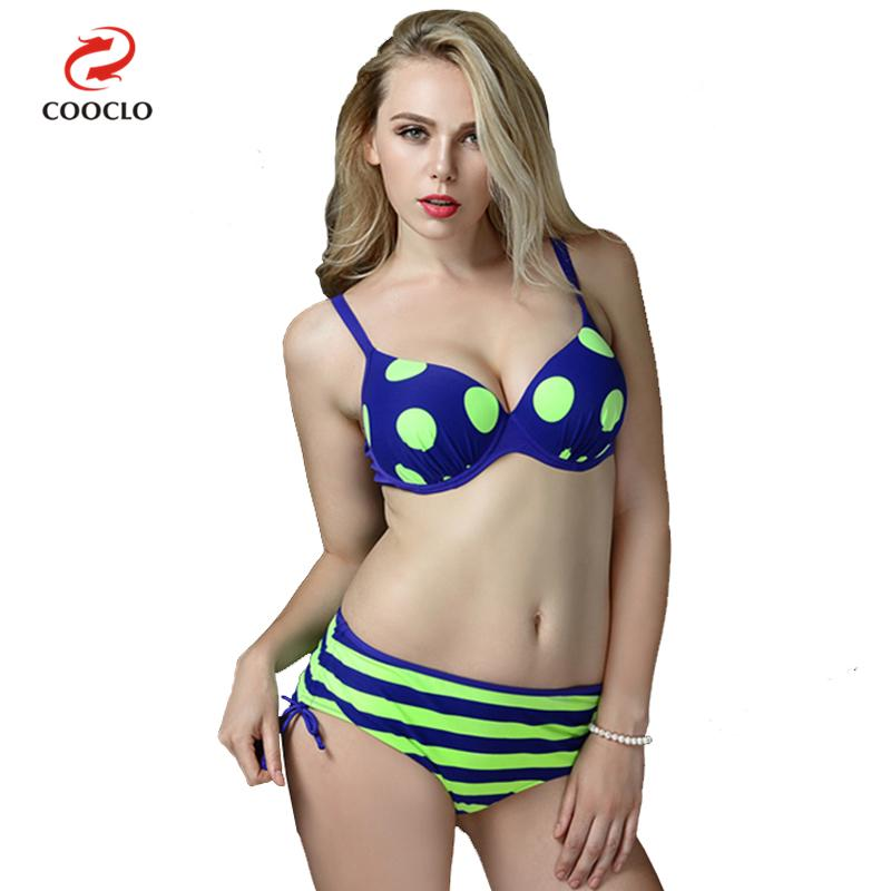 COOCLO Hot Plus Size Swimwear Bandage Bikini 2018 Sexy Women Swimsuit Bathing Suit Dot Brazilian Bikinis Set Beach Wear Biquini bikini 2017 brazilian bikinis for women swimming suit biquinis swimwear string bathing suit micro biquini plavky sexy beach wear