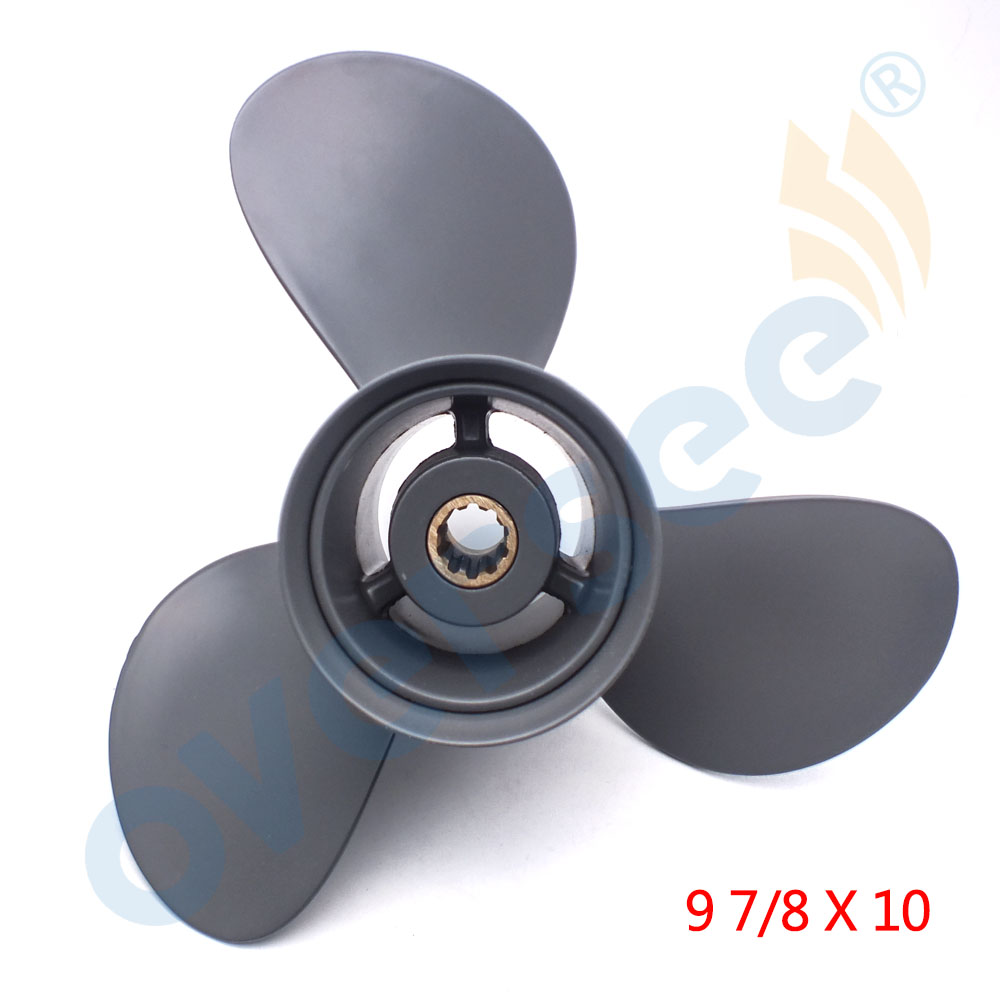 Aluminum Outboard Propeller 9 7 8x10 for HONDA OUTBOARD ENGINE MOTOR 25 30HP 58130 ZV7 010AH