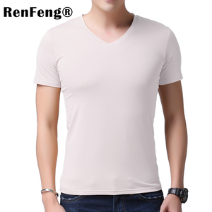 Image 2 - 2020 kühlen T Hemd Männer 95% Bambus Faser Hüfte Hop Grund Leer Weiß T shirt Für Herren Mode T shirt Sommer Top t Tops Plain Schwarz