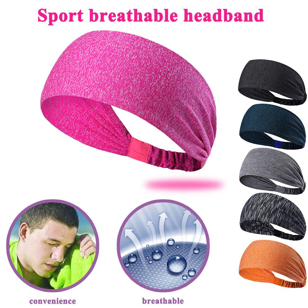 relefree Yoga Stretchy Sweatbands Headbands Tennis Sports Hair Band Athletic Breathable Fitness Antiperspirant bands Men / Women