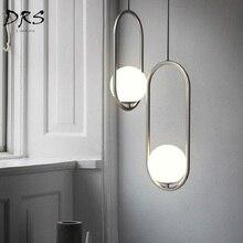 Подвесные светильники в скандинавском стиле, подвесные светильники, современный светильник, промышленный подвесной светильник, люстра, подвесной шар, стекло, Lamparas