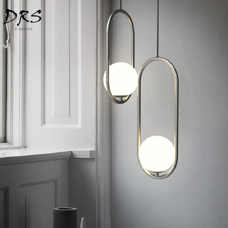 Nordic Bed Small Droplight Pendant Lights Postmodern Luminaire Industriel Hanging Lamp Lustre Suspension Ball Glass LamparasNordic Bed Small Droplight Pendant Lights Postmodern Luminaire Industriel Hanging Lamp Lustre Suspension Ball Glass Lamparas