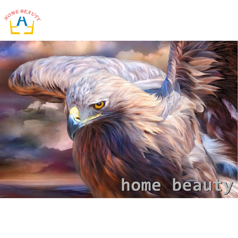 Embroidery with diamonds mosaic wall decoration eagle dmc rhinestones picture diamond painting full round drill DIY craft RA210