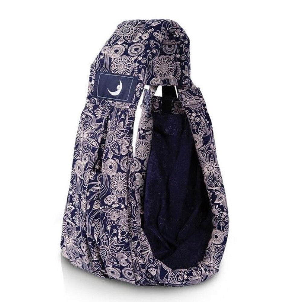 Детский рюкзак-кенгуру для переноски детей несущая переноска для новорожденных Удобная противоскользящая сумка 4 цвета - Цвет: royal blue print