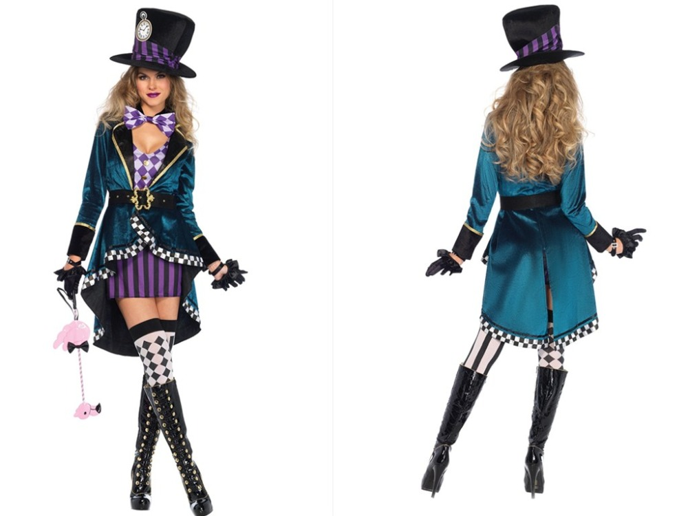 Plus Size M L Xl Halloween Maid Costumes Girls Teen Sassy Mad Hatter Alice In Wonderland Halloween Fancy Dress Costume Buy At The Price Of 35 99 In Aliexpress Com Imall Com